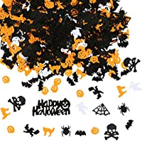 Aneco 140g Happy Halloween Confetti Spider Witch Pumpkin Cat Ghost Bat Skeleton Sprinkles Table Confett Halloween Night Party Decoration