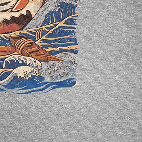 NERDO - The Great Ramen - Damen Kapuzenpullover Grau Meliert