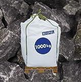 1000kg BigBag - Gabionen Steine Basaltbruch - anthrazit grau - 20-40mm - für Garten oder Teich