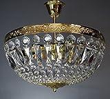Deckenleuchte ALT VIENNA GOLDFARBEN 3Leuchten 40cm aus funkelnden Glaskristallen