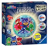 Ravensburger PJMasks Puzzle 3D, 72 Piezas, luz Nocturna