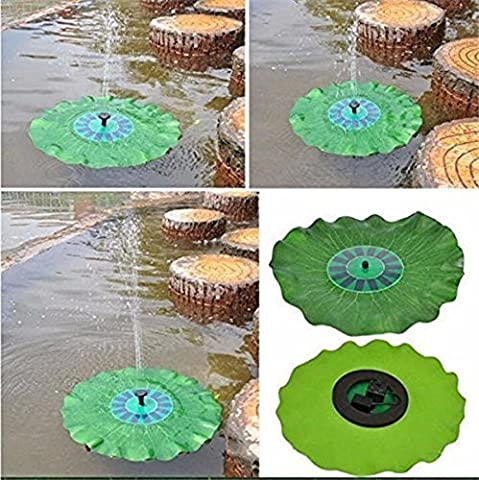 Solar Pond Pump with Monocrystalline 7V 1.4W Solar Panel For Garden Pond Bird Bath With beautiful Lotus Leaf