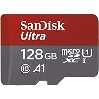 SanDisk - SDSQUAR-128G-GN6MA - Carte Mémoire MicroSDHC Ultra 128GB avec Vitesse de Lecture Allant jusqu'à 100MB/S, Classe 10 (FFP) (Nouvelle Version)