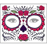 LCLrute Halloween Maske PCS Tag der Toten Dia de los Muertos Gesichtsmaske Zuckerschädel Tattoo Schönheit (D)