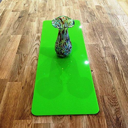(Lime Grün Rechteck Acryl Tischläufer, plastik, grün, Large - 60 x 22 cm)