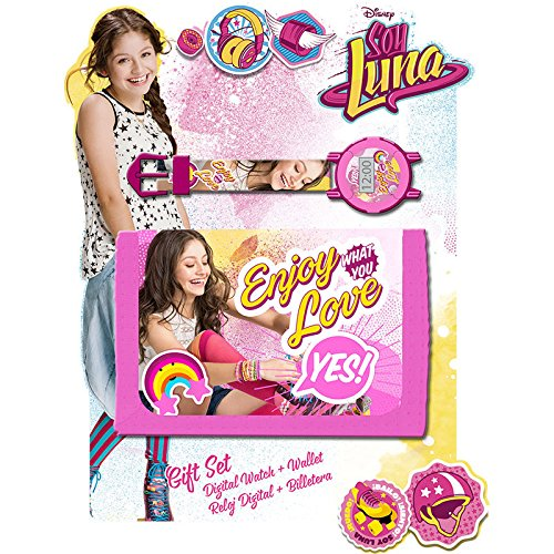 Kids Soy Luna Set Reloj y Billetera, Color Rosa