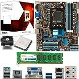 AMD Bulldozer FX-4100 Quad Core 3.6Ghz, ASUS M5A78L-M USB3 Motherboard & 4GB 1600Mhz DDR3 RAM Pre-Built Bundle