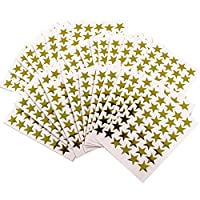 Gold Star Stickers Self Adhesive Stars - Reward - Merit - Charts for Children and Teachers x 1000
