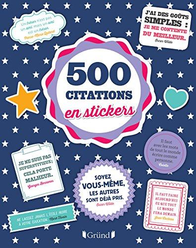 500 stickers Citations par Sonia FEERTCHAK