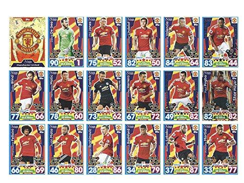Match Attax 2017/201817/18Full 18Karte Manchester United Team Base Set -