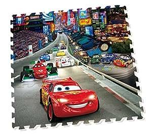 Diset - 46842 - Puzzle - Tapis Mousse Cars - 9 Pièces