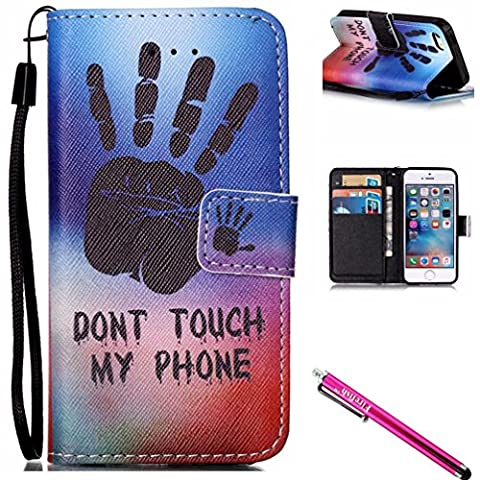 iPhone 6S Case, iPhone 6 Wallet Case, FIREF1SH [Kickstand] [Card/Cash Slots] Lightweight Premium PU Leather Wallet Flip Cover with Wrist Strap for Apple iPhone 6/6S 4.7