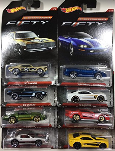 Hot Wheels Camaro Fifty 1967-2017 Exclusive 8 Car Set (81 Camaro-modell)