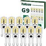 Ampoules G9 LED 3W, G9 LED Lampe Lumière Blanc Froid (30W Ampoule Halogène Équivalent) 360 Degrés 300LM 6000K AC220-240V pour