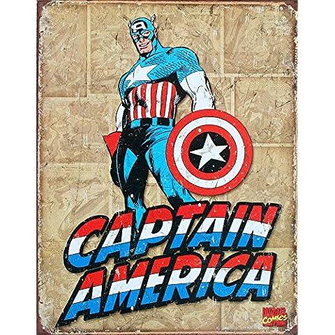 El Capitán América Comic apenados Retro de la señal de estaño