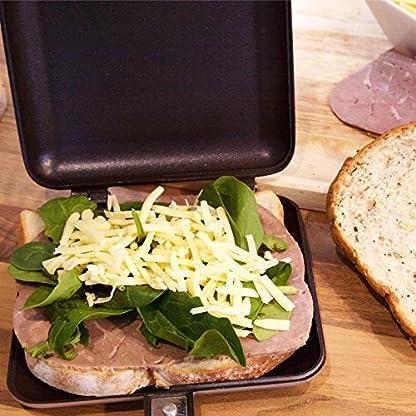 ICO-ICO021-Outdoor-Camping-Sandwich-Toaster-Kein-Strom-Bentigt-Aluminium-Silber-36-x-16-x-4-cm