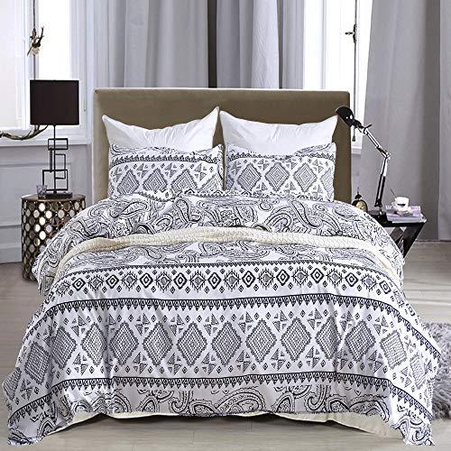 DOLPHINEGG Bettdecken Single Doppel-Hotel-Qualität Luxus-Mikrofaser-Verschleiß-Resistentes Hypoallergenes Reversible Bett Mit 1Pc-Bettdecke 2Pcs-Kissen-Gehäuse,Twin -