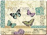 Creative Tops XL Tischset, Platzdeckchen, Postkarte, Schmetterling, 4 Stück