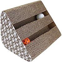 JOLVVN Katzen Kratz Spielzeug, Katzenspielzeug Kratzmöbel Kratzmatte Kratzbaum kratzbretter aus Wellpappe handgefertigt, Ideal Scratch