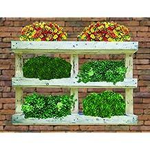 Jardinera vertical de palet reciclado 120x81x13 cm (huerto urbano)