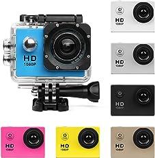 UGI Aktion Kamera HD 720P/1080P/4K Sportkamera - HD Wifi Unterwasserkamera Tauchen Wasserdichte Action Camcorder mit Zubehör für Kinder,Schnorcheln,Motorrad,Fahrrad,Helm,Auto,Ski und Wassersport