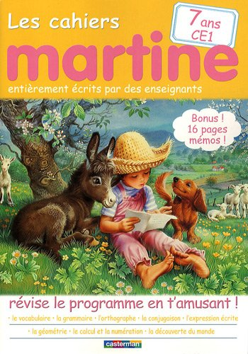 Les cahiers Martine CE1
