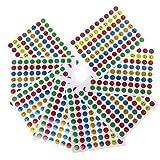 #8: Magideal 10x Children Multicolor Mini Removable Teacher Reward Stickers Smile Face