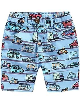 Yilaku Jungen Shorts Autos Drucken Kinder Bekleidung