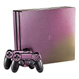 eXtremeRate Purple and Gold Chameleon Full Faceplates Skin Console & Controller Decal Wrap pour PS4 Pro