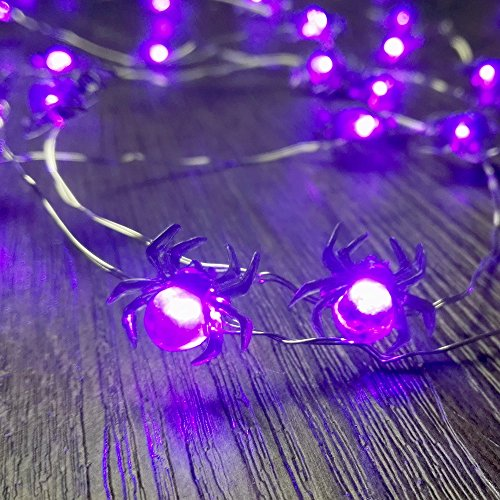 LED Halloween-Lichterketten, IMPRESS LIFE Biene 10Ft (3M) 40 LEDs Batteriebetriebene Festbeleuchtung für Indoor, Geschützer Außenbereich, Thanksgiving, Erntedankfest, Halloween, Partys - Eine Sie Halloween-party Haben