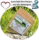 SiS Lunas Bio Katzengrassamen ♥ - 1 Beutel mit 30g Saatmischung für ca. 15 Töpfe fertiges Katzengras in wiederverschliessbarem Beutel