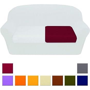 ARREDIAMOINSIEME-nelweb Copricuscino Universale Tessuto Elasticizzato 3 Misure 1/2/3 Piazze Divano Cuscino Alta qualità' 100% Made in Italy 2 PIZZE Blu (H)