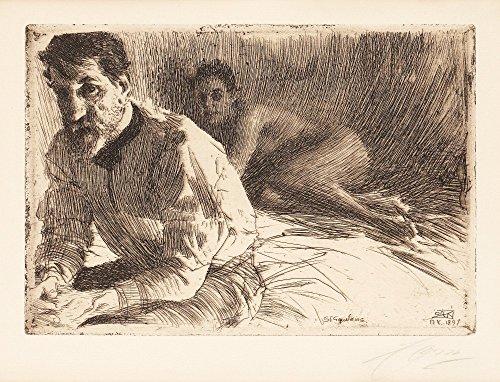 Das Museum Outlet–Anders Zorn Augustus Saint Gaudens II 1897, gespannte Leinwand Galerie verpackt. 40,6x 50,8cm -