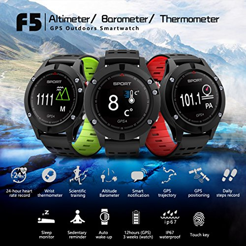 61iXbR0arqL. SS500  - Smart watch,Sports Watch with Altimeter/ Barometer/Thermometer and Built-in GPS , Fitness Tracker for Running,Hiking and Climbing ,IP67 Waterproof Heart Rate Monitor for Men, Women and Adventurer.