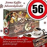 Geschenk zum 56. | Bohnen Kaffee Weihnachtskalender | Adventskalender für Sie Adventskalender für Ihn Adventskalender Herren Aromakaffee Adventskalender ganze Bohnen Adventskalender Flavoured Coffee