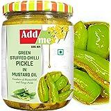 Add me Homemade Stuffed Green Chilli Pickle 500gm Rajasthani Hari mirch ka achar Pickles