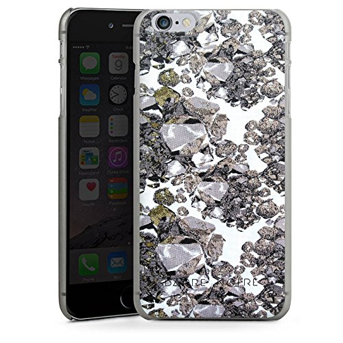 Apple iPhone X Silikon Hülle Case Schutzhülle Edelsteine Muster Steine Hard Case anthrazit-klar
