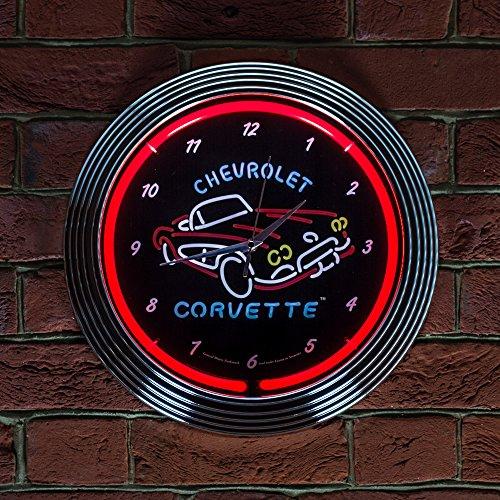 corvette-c1-neon-clock-240-v-3-prong-uk-by-chevrolet