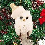 3 Stück Anhänger Weihnachten Deko Vögel weiß klein Weihnachtsbaum niedliche Vögel Weiß Weihnachtsdeko hängend Weihnachtsbaum Christbaum Schmuck Deko 10cm