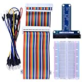 Kuman RPi GPIO Breakout Erweiterungs Kit für Raspberry PI mit 3,5 Zoll LCD Bildschirm, T-Typ expansion board+ 400 points Tie Points Solderless Breadboard + 40 Pin IDE male - female - male extension Kabel + 35pcs Jump wires K80