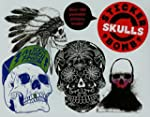 Stickerbomb Skulls.