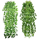 Sphinx® Artificial Leaves Vines/Hanging Plant for Decoration 90 cms-(Shapes as per Stock)- (2, 90 cms)