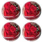 MSD 35317362 Dessous de verre ronds antidérapants en caoutchouc naturel Motif cœurs...