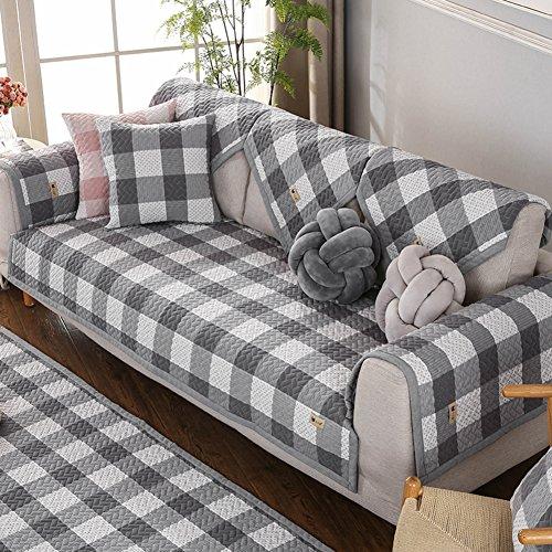 DSAQAO Vier jahreszeiten universal gesteppte sofabezug, Anti-rutsch Couch-schutzhülle Sofa-protektoren von haustieren-D 110x160cm(43x63inch)