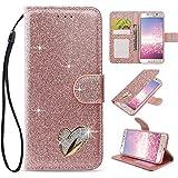 LAPOPNUT for Samsung Galaxy J3 2017 Case Glitter Diamond PU