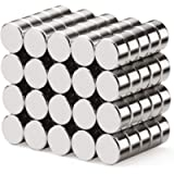 walolo 40 Pack Extra Strong Magnets 6mm X 3mm, Grade N45 Neodymium Magnet for White Board, Fridge, Pin Board and DIY…