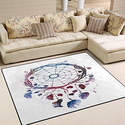 Use7 Alfombra de Acuarela con diseño de atrapasueños Indio para salón o Dormitorio, Tela, 160cm x 122cm(5.3 x 4 Feet)