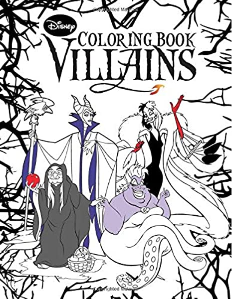 - Disney Villains Coloring Book: Over 50+ Funny Coloring Pages About Disney  Villains Great Coloring Books For Boys Girls Kid: Amazon.co.uk: Laszlo,  Victor: 9781704162935: Books