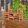 Kingfisher Hardwood Garten Holz-Zweier-Sitzmöbel, Holz von Kingfisher bei Gartenmöbel von Du und Dein Garten