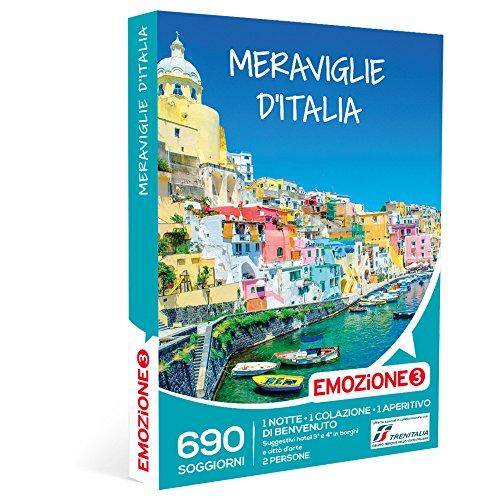 Emozione3 cofanetto regalo - meraviglie d'italia - 690 soggiorni in hotel 3 o 4 stelle in borghi e città d'arte italiane